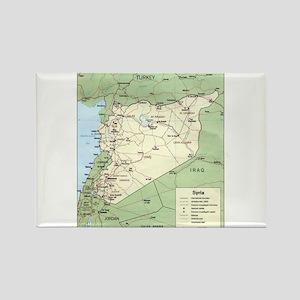 Syria Iraq Turkey Jordan map Rectangle Magnet