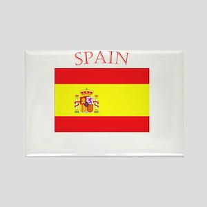 Spanish Flag spain yellow Rectangle Magnet