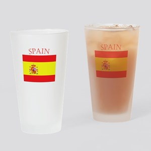 Spanish Flag spain yellow Drinking Glass