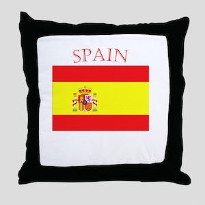 Spanish Flag spain yellow Throw Pillow