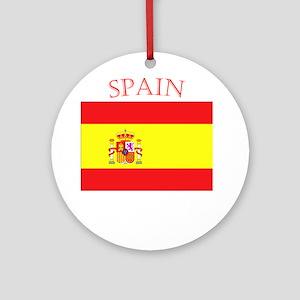 Spanish Flag spain yellow Ornament (Round)