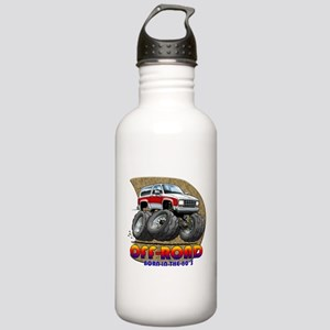 White Red B2 Stainless Water Bottle 1.0L