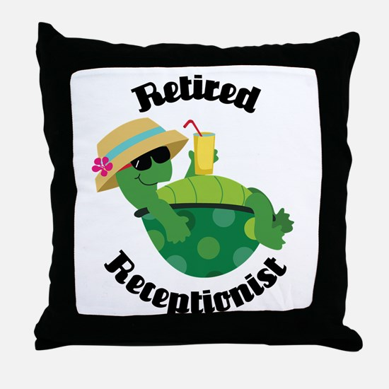 Retired Receptionist Gift Throw Pillow