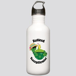 Retired Receptionist Gift Stainless Water Bottle 1