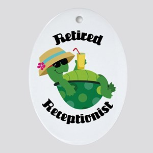 Retired Receptionist Gift Ornament (Oval)