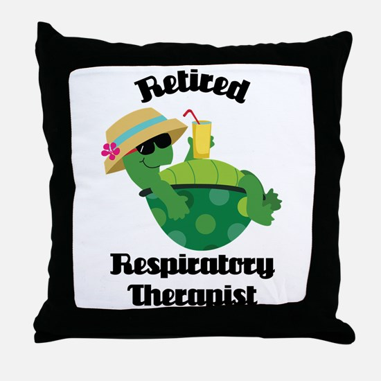Retired Respiratory Therapist Throw Pillow