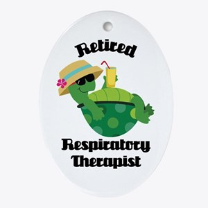 Retired Respiratory Therapist Ornament (Oval)