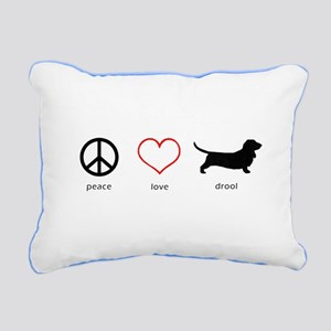 Peace, Love, Drool Rectangular Canvas Pillow