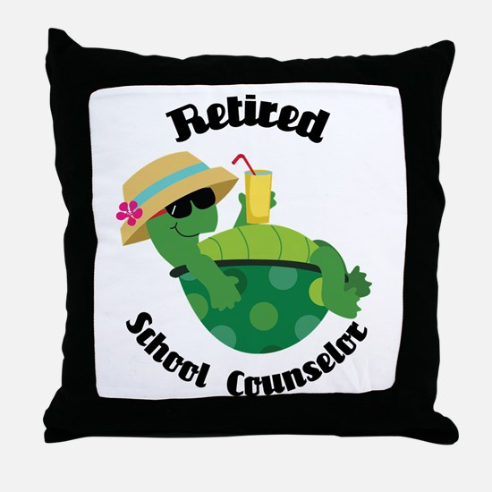Retired School Counselor Gift Throw Pillow