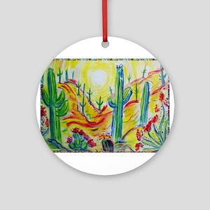 Saguaro Cactus, desert Southwest art! Ornament (Ro