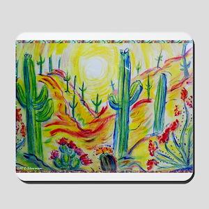 Saguaro Cactus, desert Southwest art! Mousepad
