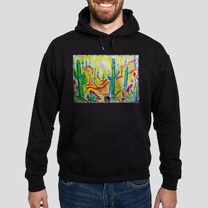 Saguaro Cactus, desert Southwest art! Hoodie (dark