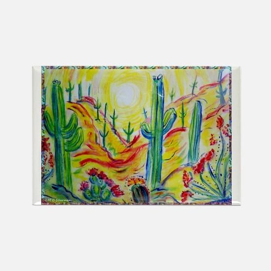 Saguaro Cactus, desert Southwest art! Rectangle Ma