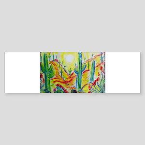 Saguaro Cactus, desert Southwest art! Sticker (Bum