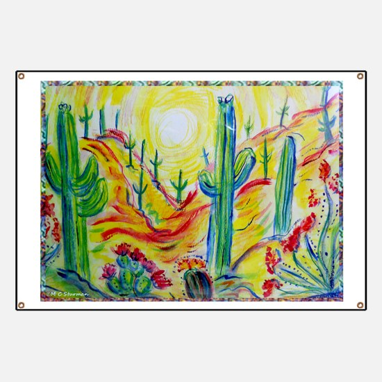 Saguaro Cactus, desert Southwest art! Banner