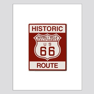 Beverly Hills Route 66 Small Poster
