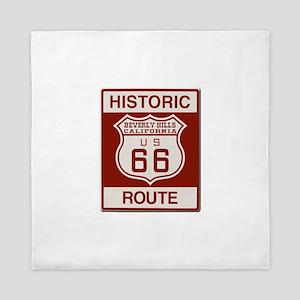 Beverly Hills Route 66 Queen Duvet
