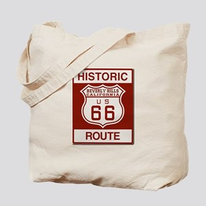 Beverly Hills Route 66 Tote Bag