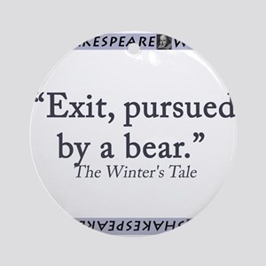 Exit, Pursued By A Bear Round Ornament