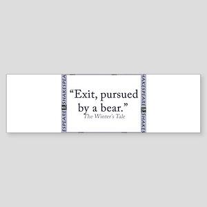 Exit, Pursued By A Bear Sticker (Bumper)