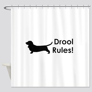 Drool Rules! Shower Curtain