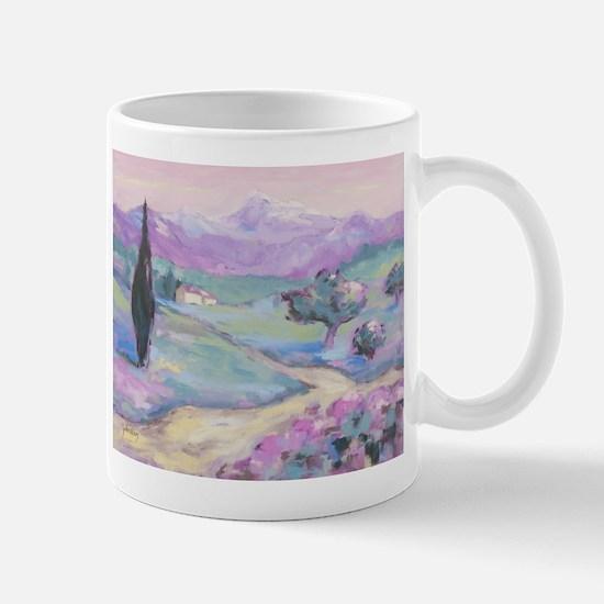 Purple mountain Painting Mug