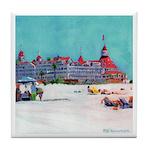 Day at The Beach Coronado CA Tile Coaster