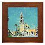 Plaza de Panama Balboa Park Framed Tile