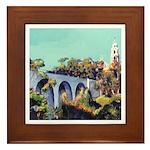 Cabrillo Bridge Balboa Park San Diego Framed Tile