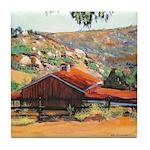 Red Barn by RD RIccoboni Tile Coaster