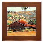 Red Barn by RD RIccoboni Framed Tile
