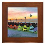 Oceanside Beach Cottages Framed Tile