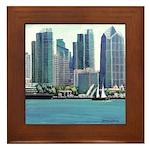 San Diego Waterfront Framed Tile