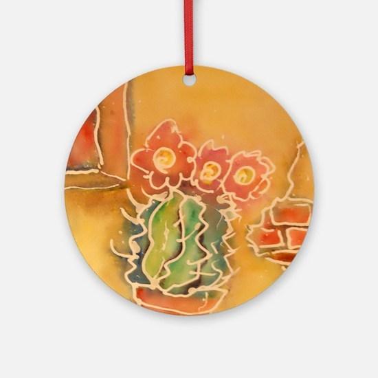 Cactus! Southwest art! Ornament (Round)