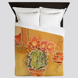 Cactus! Southwest art! Queen Duvet