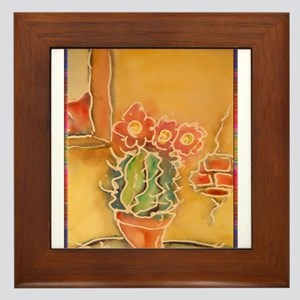 Cactus! Southwest art! Framed Tile