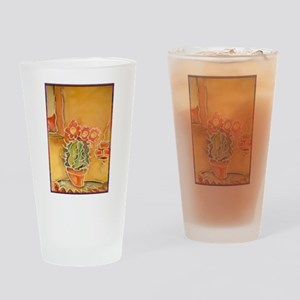 Cactus! Southwest art! Drinking Glass