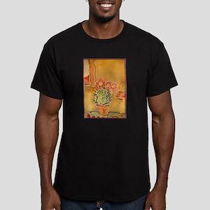 Cactus! Southwest art! Men's Fitted T-Shirt (dark)