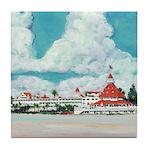 Hotel del Coronado Painting Tile Coaster