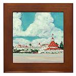 Hotel Del Coronado Painting Framed Tile