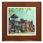 Victorian Street by Riccoboni Framed Tile