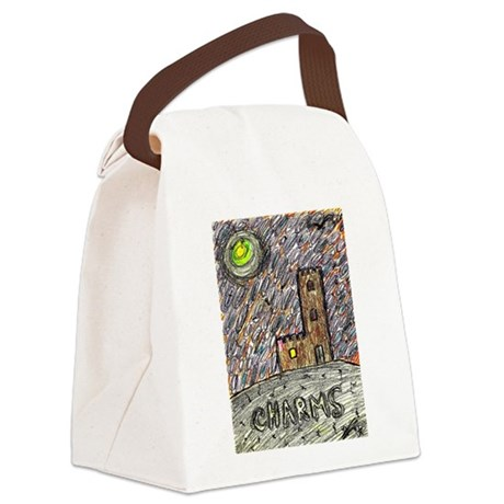 charms castle fantasy dreamlike Canvas Lunch Bag