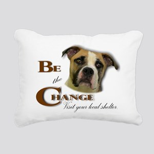 Be the Change Pit Rectangular Canvas Pillow