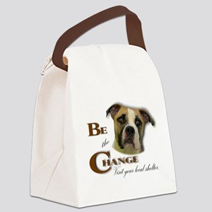 Be the Change Pit Canvas Lunch Bag