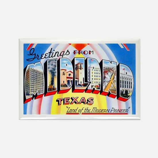 Midland Texas Greetings Rectangle Magnet