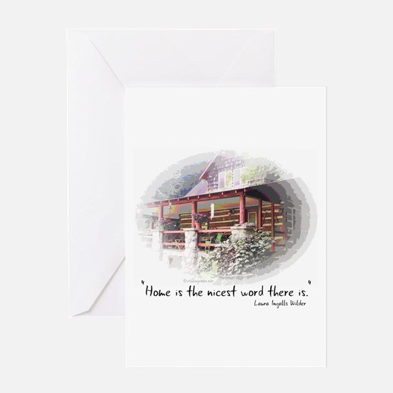Home is the Nicest Word Greeting Card