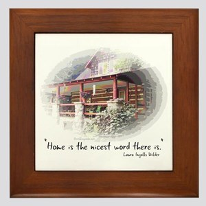 Home is the Nicest Word Framed Tile