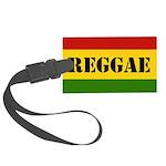 Reggae Rasta Rebel Music Large Luggage Tag