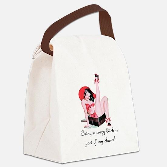 bitchwhite.tif Canvas Lunch Bag