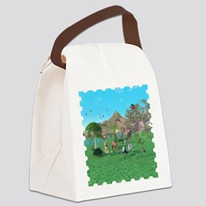 An exotic wild animal scene Canvas Lunch Bag